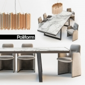 Poliform Guest chair Opera table