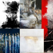 Textures paintings of contemporary art
