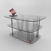 Стол из стекла