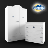 Wardrobe and chest of drawers Baby Expert Gioiello