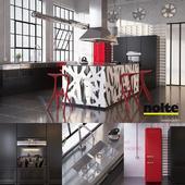 Кухня Nolte Neo с оборудованием и индустриальной атрибутикой (vray, corona)