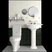 Sink Sanitan balasani, toilet Sanitan highgrove, mixer barber wilson