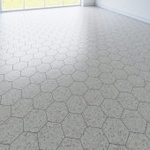 hexagon tile. 3 types