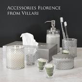 Набор элитных аксессуаров для ванной Florence от Villari