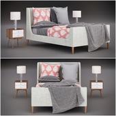 Кровать Upholstered Sleigh Bed 2