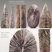 Набор деревянных скульптур Thierry Martenon