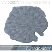 "carpet blanket ""VIVIDGREY-WATER LILY"""