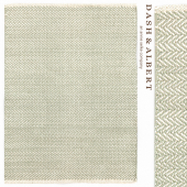 Ковер Dash&Albert Herringbone Ocean Woven Cotton Rug