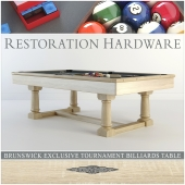 RH Brunswick exclusive tournament billiards table
