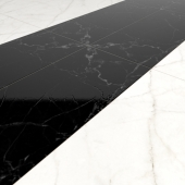 The texture of black and white marble floor