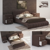Кровать NUVOLA 1, тумбы ORMA SOFT 2 (перезалив)