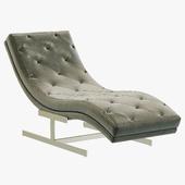 RH Modern Royce Leather Chaise