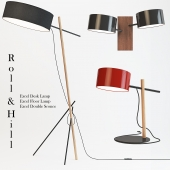 Roll & Hill - Excel Desk, Floor Lamp, Double Sconce