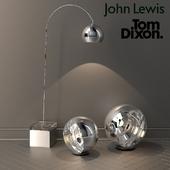designer floor lamps from jown lewis and tom dixon