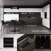 Kitchen Poliform My Planet Handle (vray, corona)