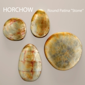 Round Patina stone. Horchow