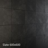 Black and gray slate