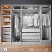 Clothes in the closet section A 1-4