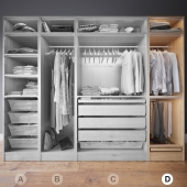 Clothes in the closet section D 4-4