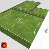 The fields for mini-football