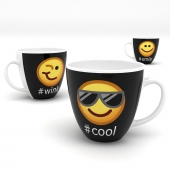 Emoticon mugs set