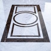 B & W marble floor