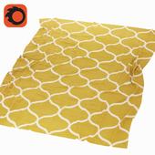 Carpet Stockholm / Stockholm Ikea, yellow, brown