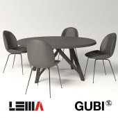 Gubi / Beetle Dining & Lema / Wow