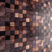Art wall. Wooden mosaic.
