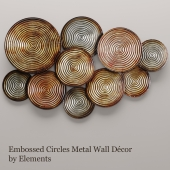 Embossed Circles Metal Wall Décor by Elements