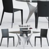 Molteni Alfa Chair and ARC Table