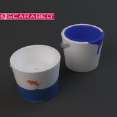 BUCKET wash basin by scarabeo