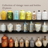 Collection vases and bottles. 23 pieces