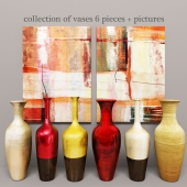 collection of vases 6 pieces + pictures
