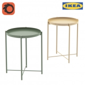 Стол Гладом / Gladom Tray table Ikea, зеленый, желтый