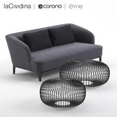 Sofa laCividina ELLE & pouf Ploff