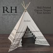 Mali Printed Canvas Teepee Tent Arrows