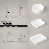 KOHLER Toobi and Oblo faucets and Vox sinks