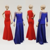 Two evening dresses.