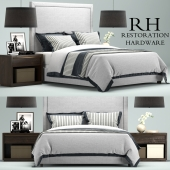 Restoration Hardware Wallace Upholstered bed