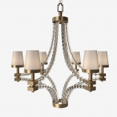 Visual Comfort - Large Crystal Cube Chandelier