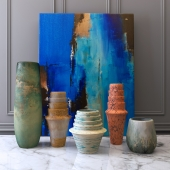 Vases and picture