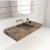 concrete washbasin + decor