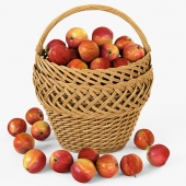 Basket with apples 01