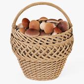 Basket with mushrooms 01