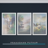 картины художника Prakashan Puthur. Часть 1