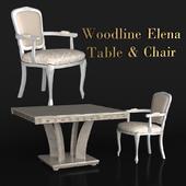 Woodline Elena Table&Chair