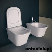 Подвесной унитаз и биде. Antonio Lupi Cabo