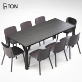 Ton Split chair & Bloom table