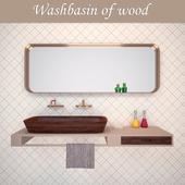 Washbasin Shell wood from NINA MAIR studio